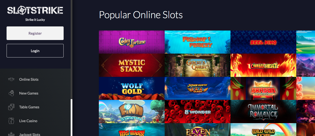 Slot Strike Casino Review: A Slot Haven for Slot Enthusiasts Screenshot